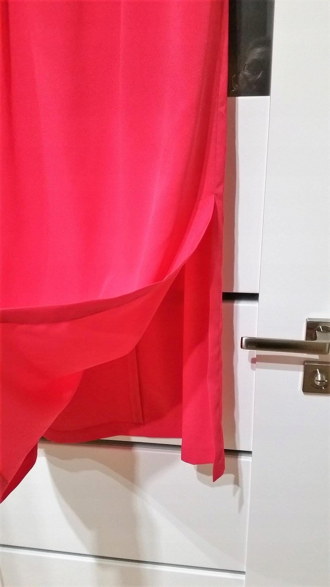 SOLAR XS 34 długa spódnica maxi różowa róż fuksja