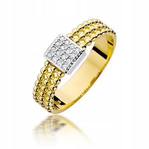ZÁSNUBNÝ PRSTEŇ GOLD 585 DIAMOND 0,08 ct