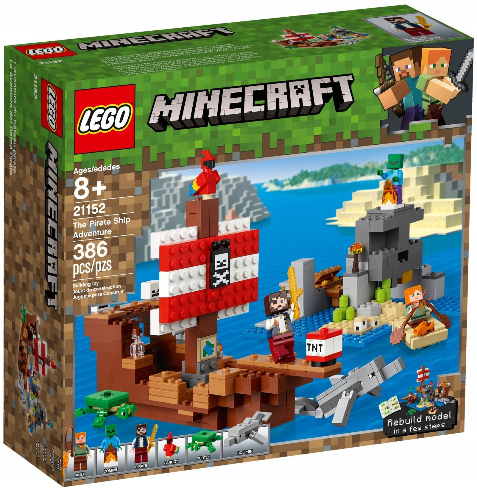 LEGO MINECRAFT Dobrodružstvo na pirátskej lodi 21152