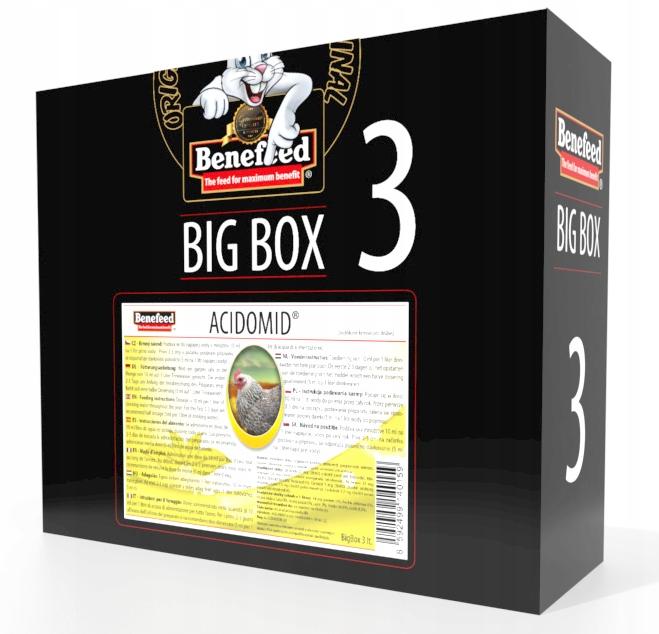 ACIDOMID pre hydinu ZAKWASZACZ VODY 3 L BOX !