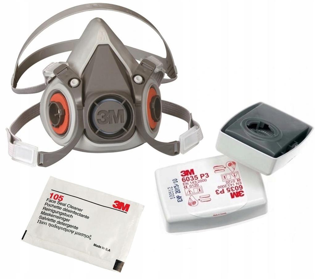 Респиратор 3М 6200+Фильтр 6035 Р3 Комплект