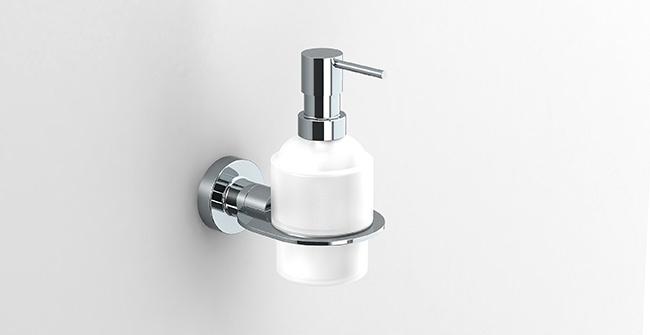 ŁÓDŹ chrómovaný dávkovač tekutého mydla SONIA Tecno