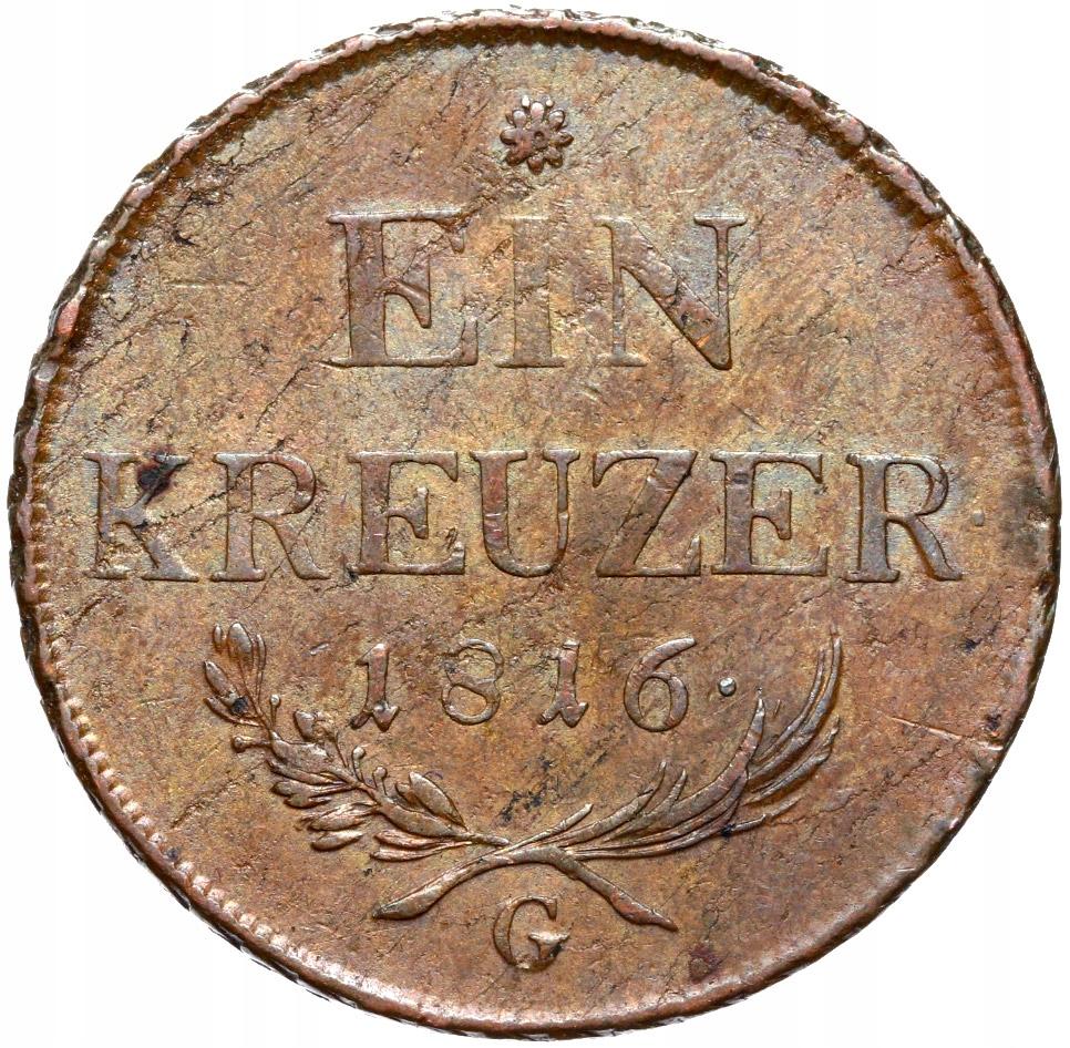 + Rakúsko Franciszek I - 1 Krokar 1816 G - Štát!