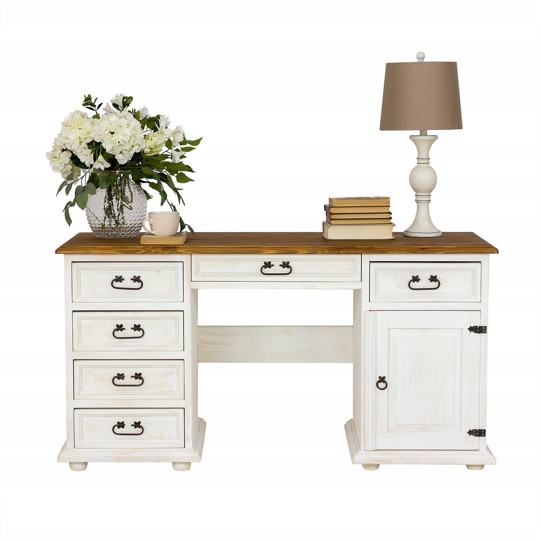 ++ retro drevený stôl masívna voskovaná borovica ++