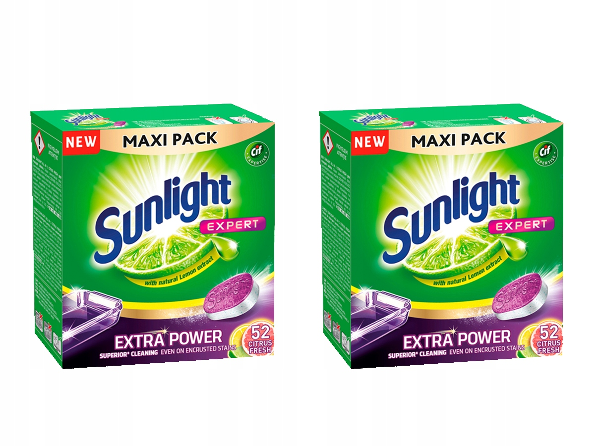 SUNLIGHT Extra Power Citrus Fresh таблетки 104 шт