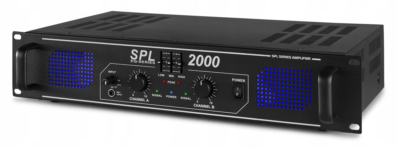 Zosilňovač 2x 1000W SPL 2000 RCA Jack 3.5