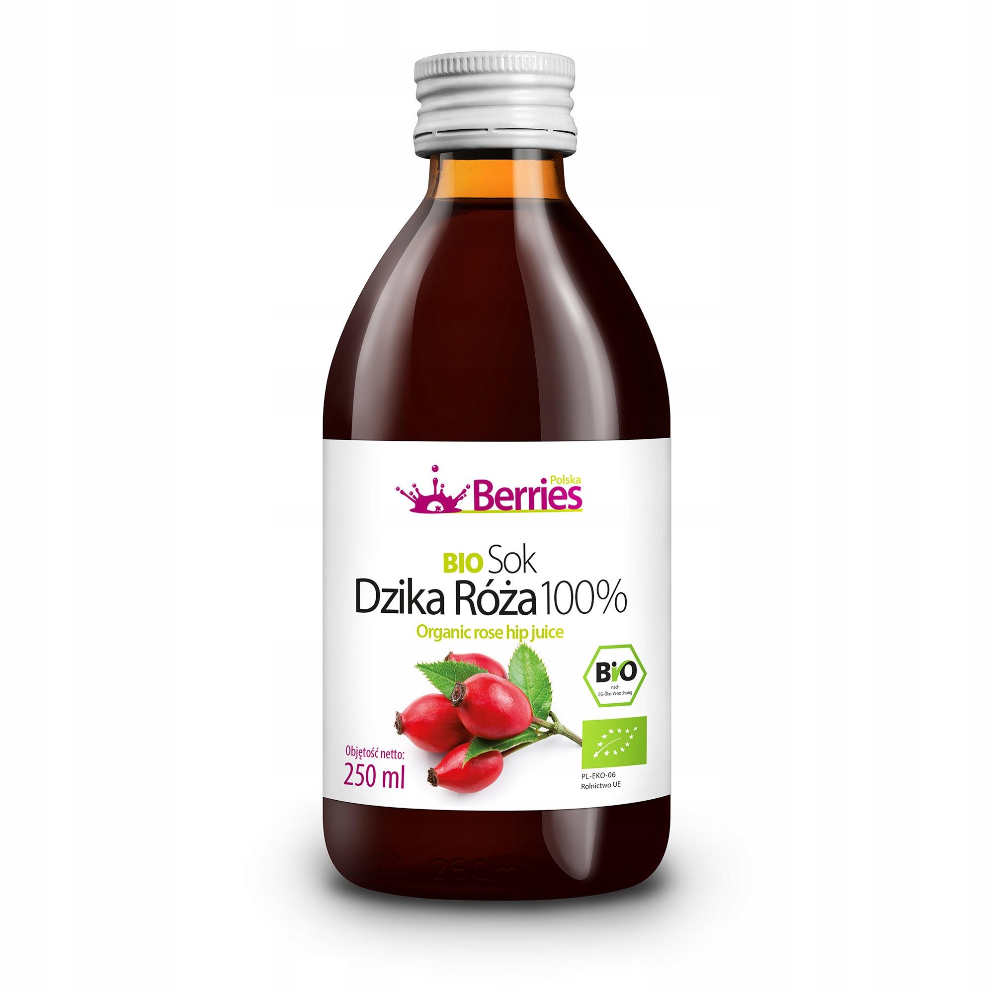 Sok BIO Dzika Róża 100% sok z dzikiej róży 250ml