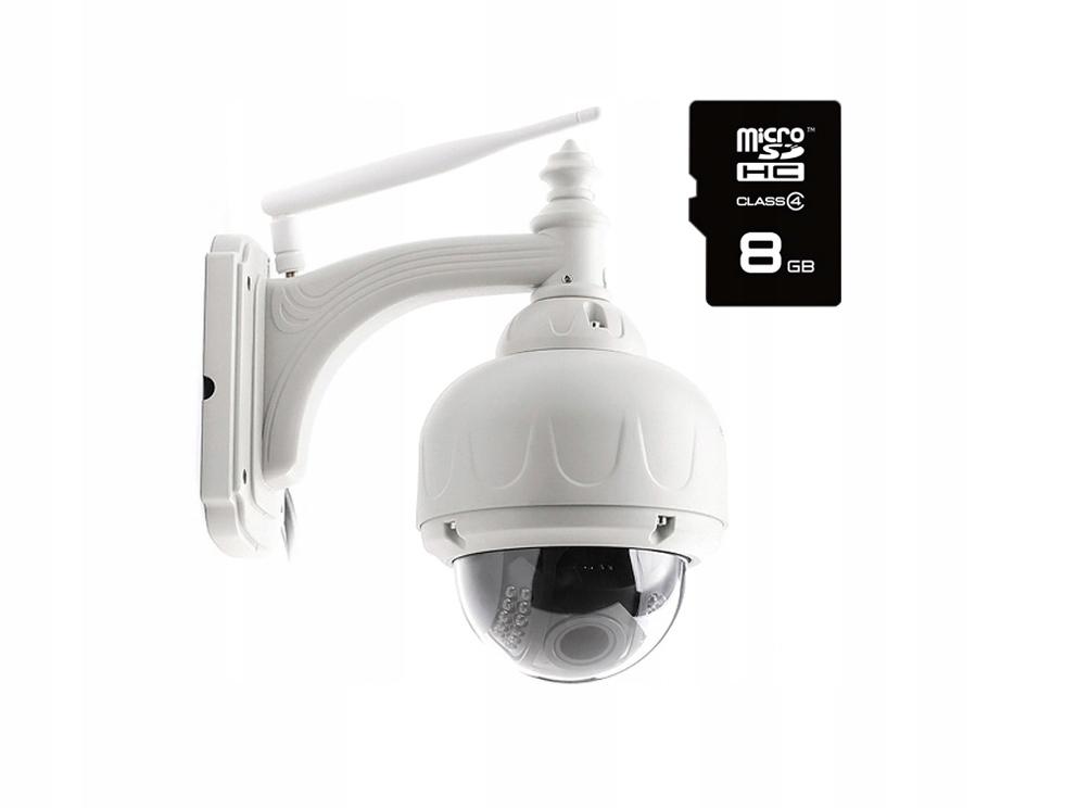 Kamera Zewnętrzna Obrotowa WiFi 5 X ZOOM Optyczny Zasięg podczerwieni 30 m
