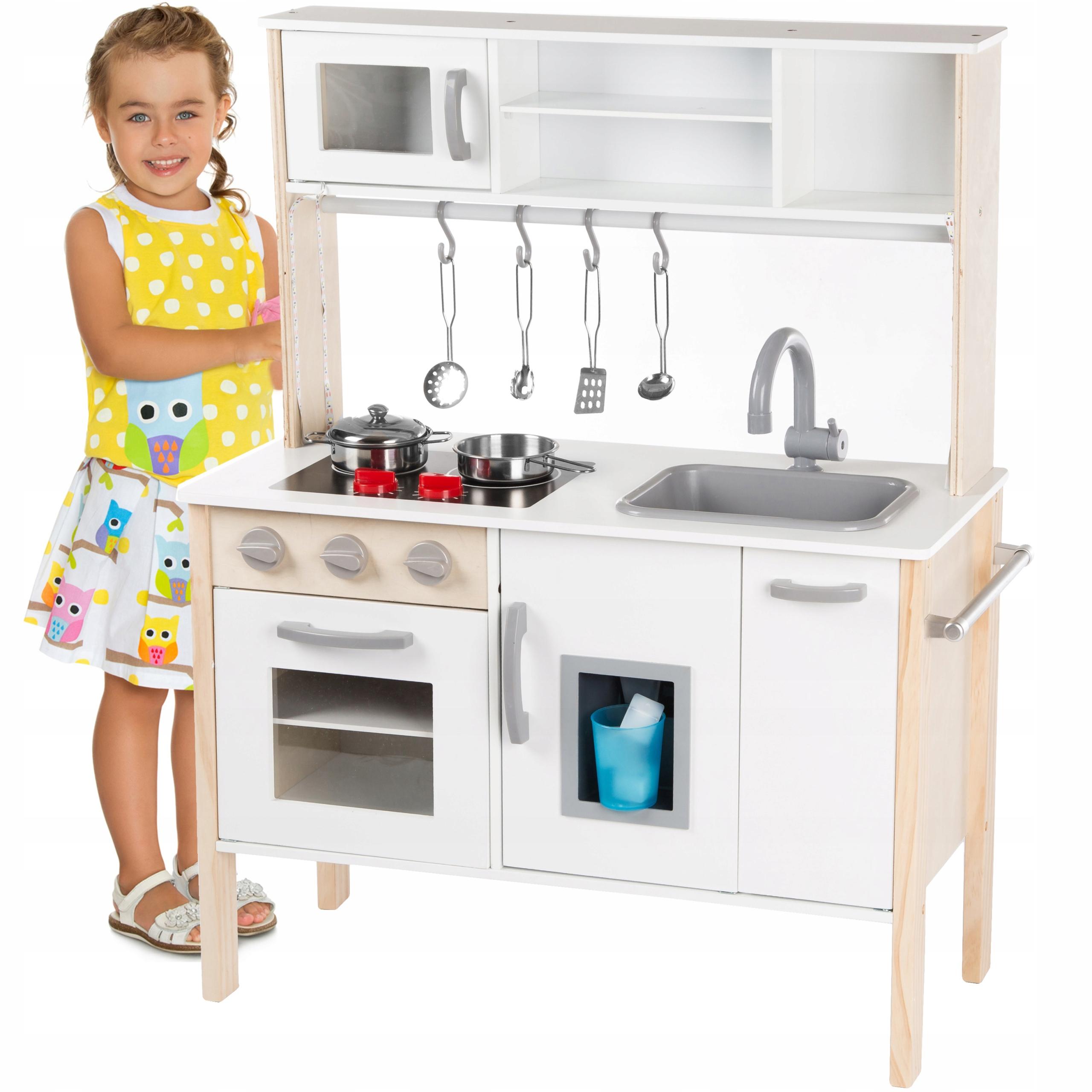 Kinderplay Drewniana Kuchnia Dla Dzieci Swiatlo 8363057142 Allegro Pl