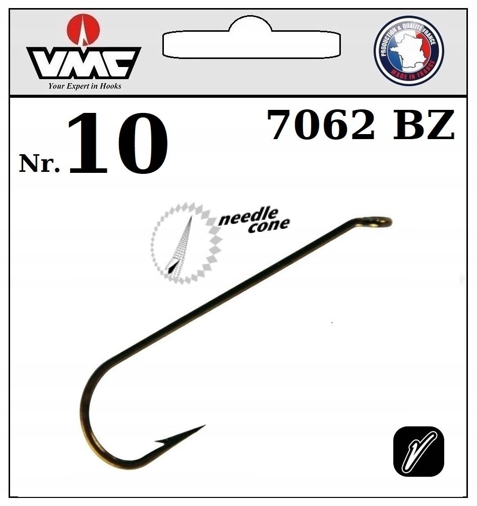 20 x HOOK VMC VNIUMY FLYS DRY 7062 BZ NO.10