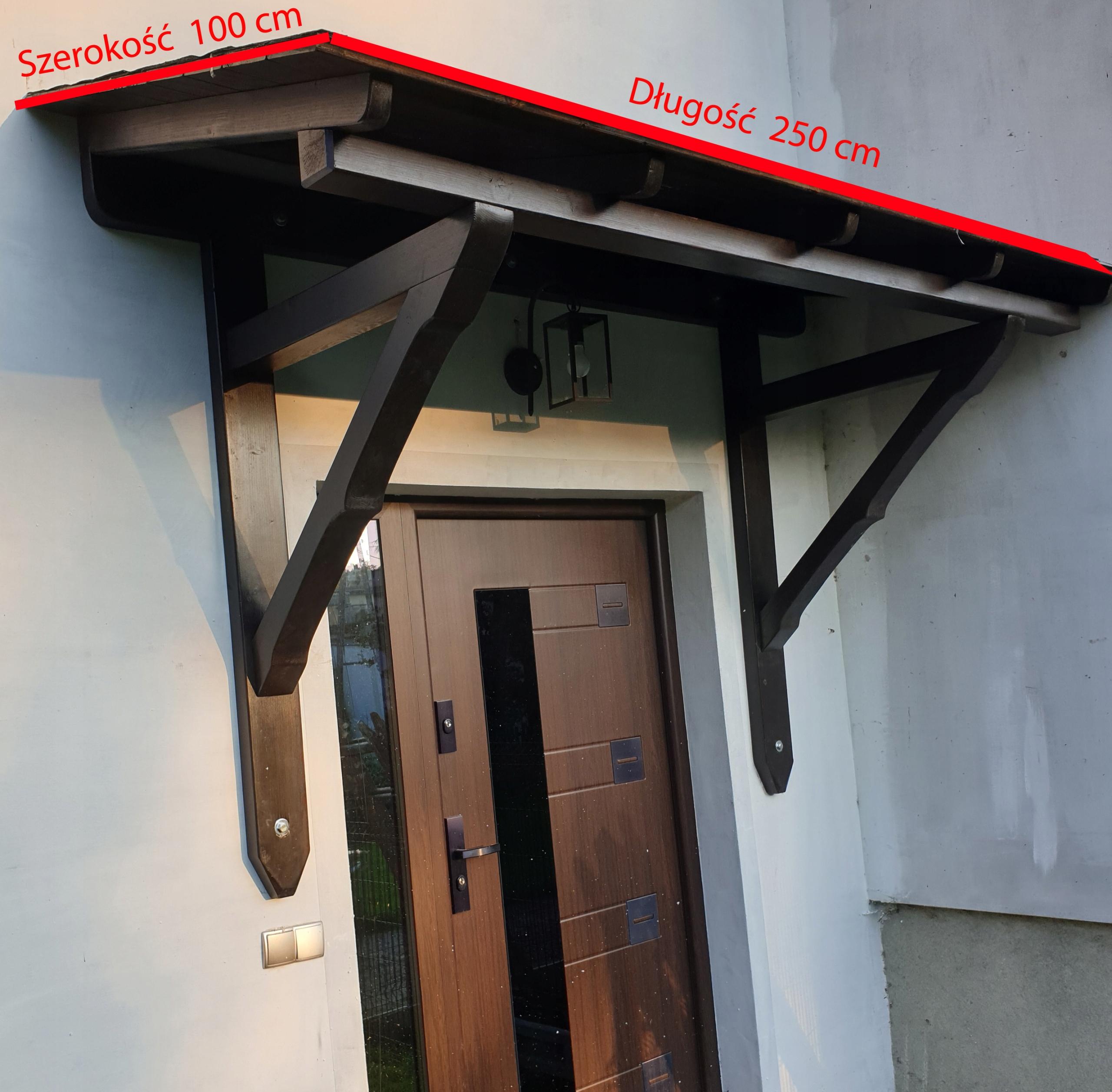 Drevený prístrešok nad dvere EzO 250