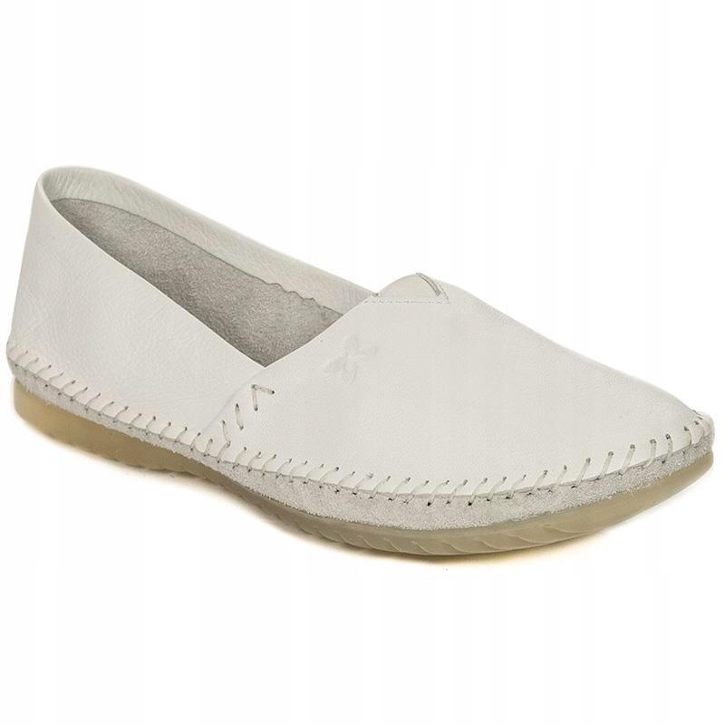 Balerinki Maciejka 1930 biały 39 soft buty skóra