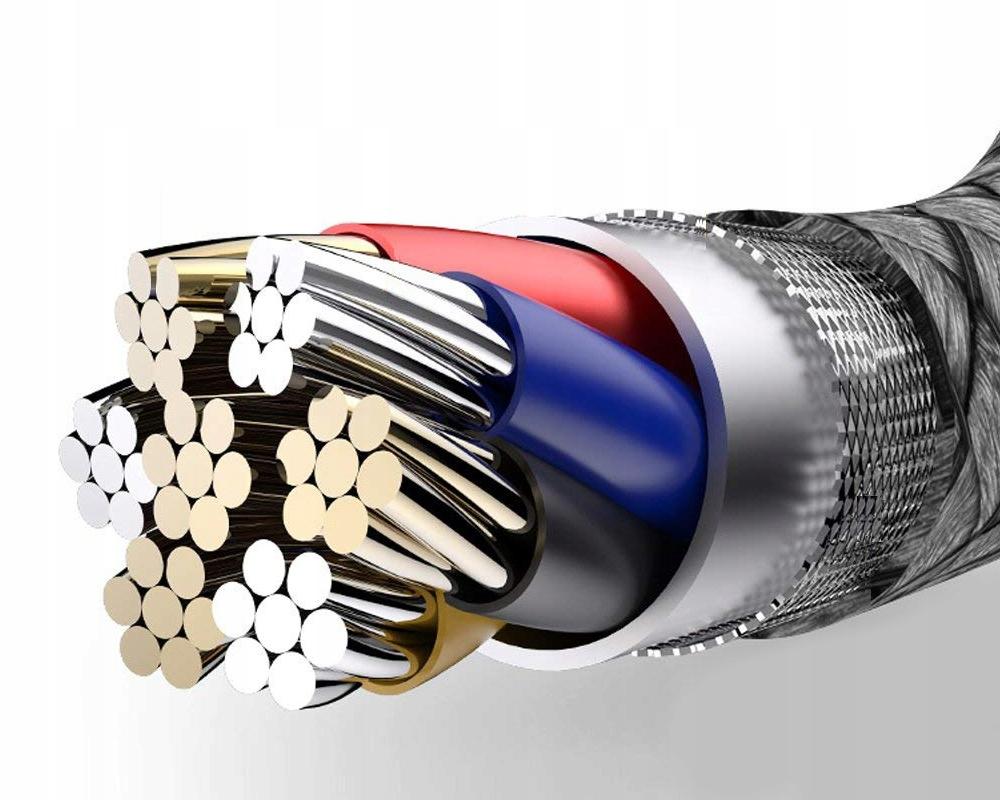 USB-KABEL FOR IPHONE RASKLADER 3.0 Flettet konstruksjon