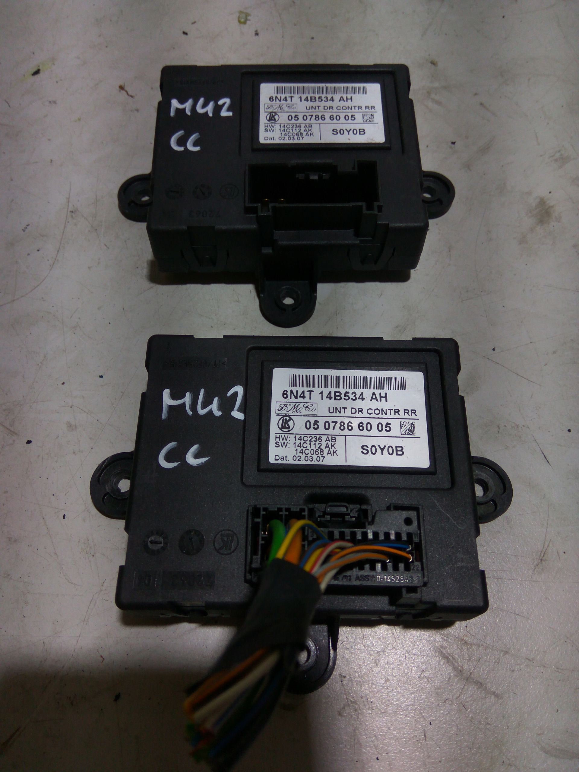 ford focus mk2 cc модуль двери 6n4t-14b534-ah