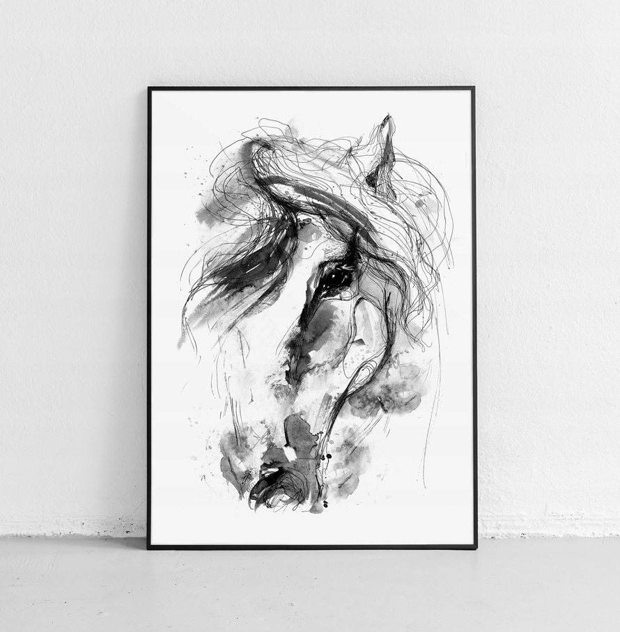 Obrázok plagátu vintage koňa, obývacia izba, spálňa 61x91 cm