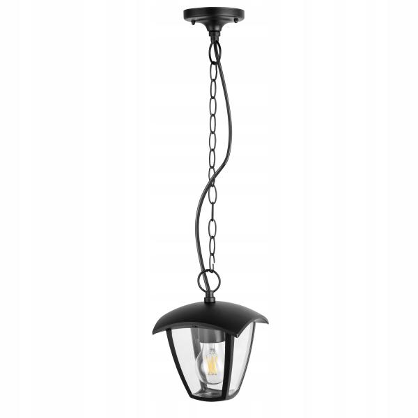 Záhradná lampa závesná ČIERNA VINTAGE RETRO pre LED