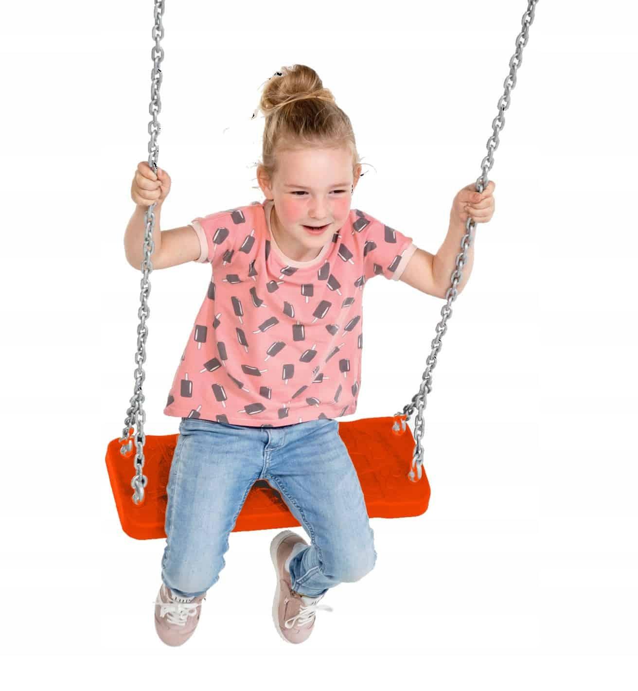 Seat gumy hojdačky na detské Ihrisko - červená