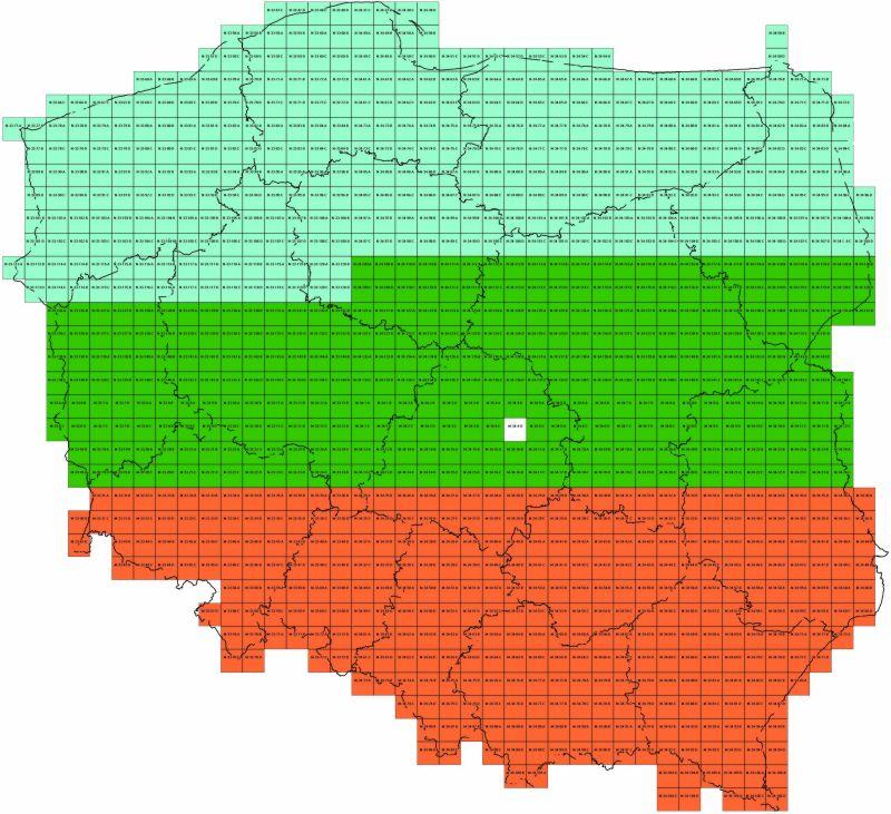 Wojskowe Mapy - Sztabówki LWP, cała ПОЛЬША на DVD