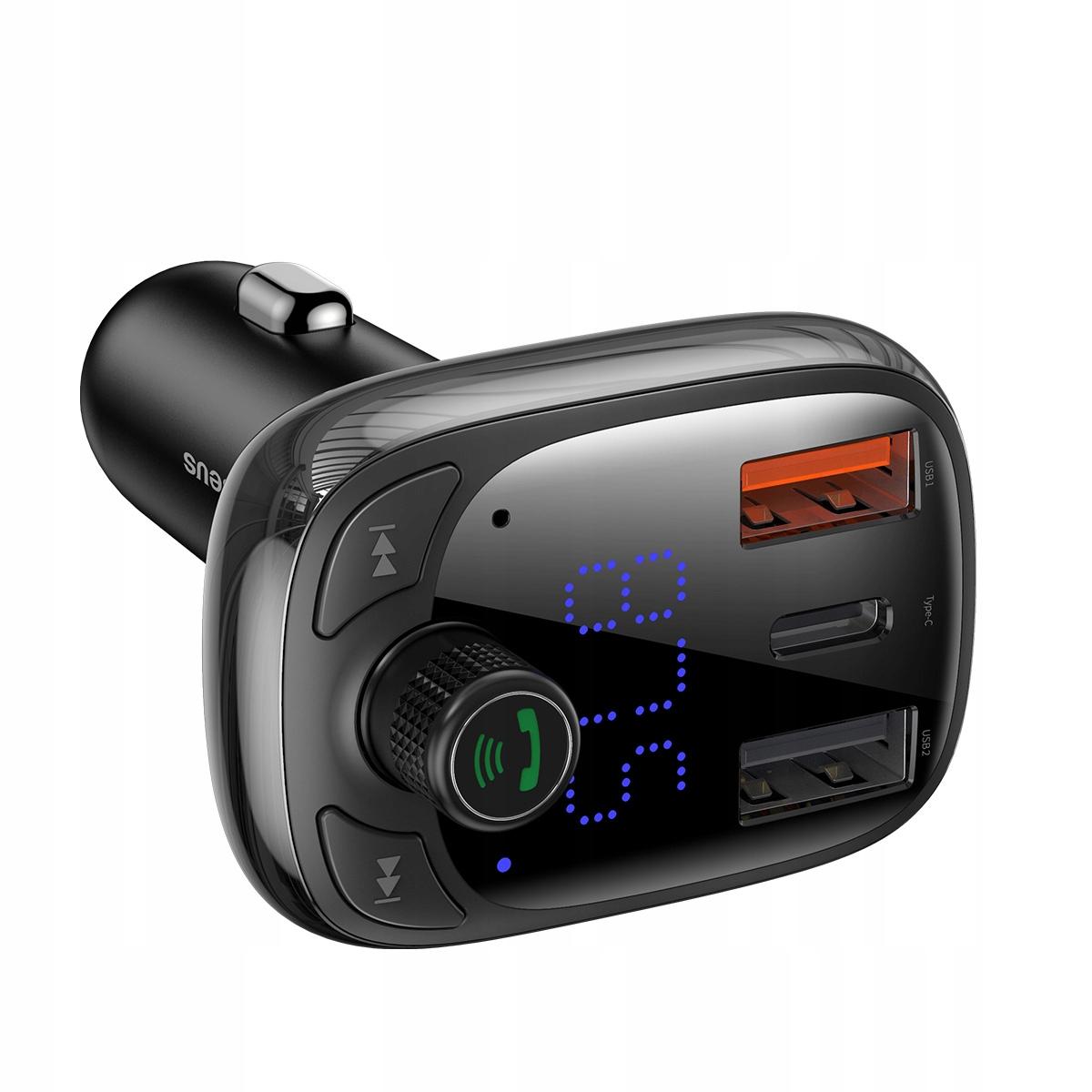 FM-передатчик Baseus Зарядное устройство Bluetooth QC 3.0 PD