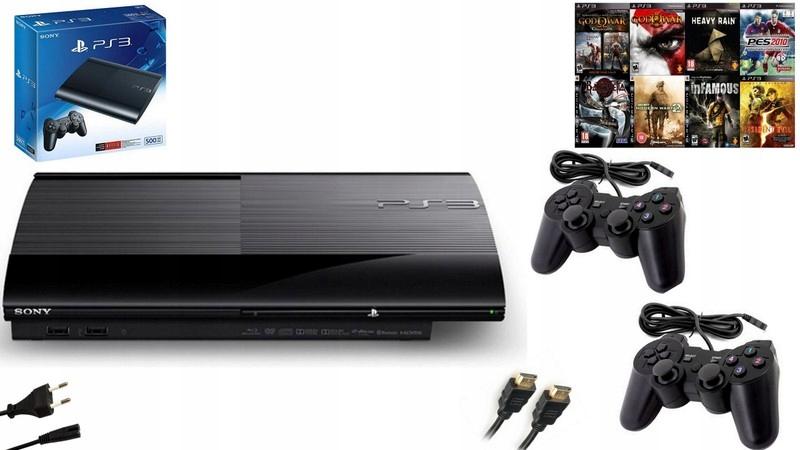 Sony PS3 Super Slim 500GB 2 Pads! Hra