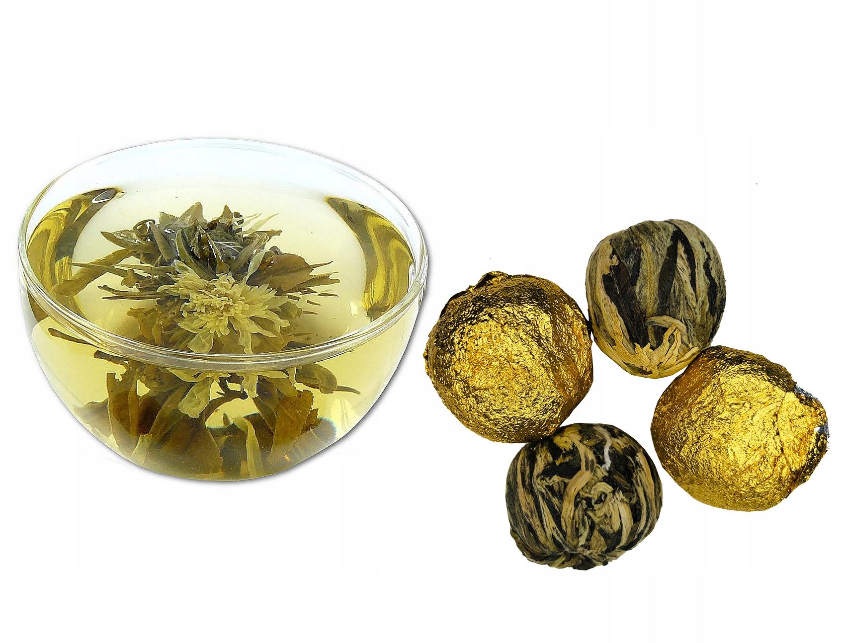 Купить Белый чай цветущая GOLD BALL 3шт красивая на Otpravka - цены и фото - доставка из Польши и стран Европы в Украину.