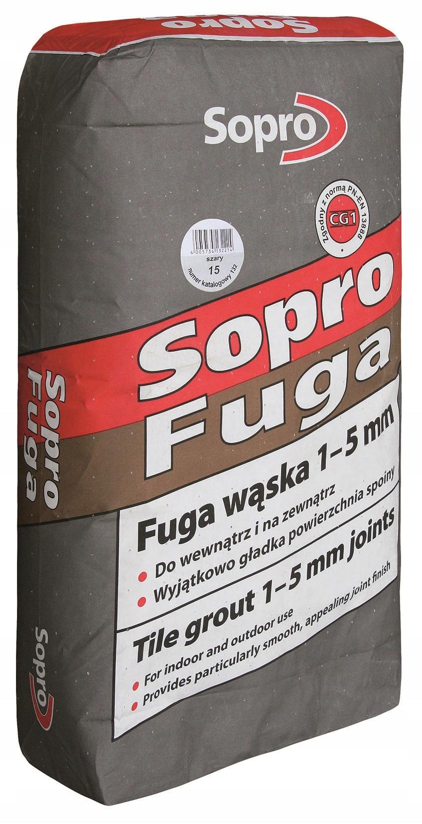 УЗКИЙ СОПРО ПАЗ - серый, 25 кг