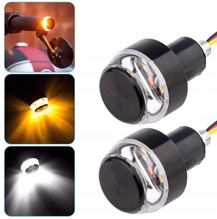 Kierunkowskazy LED końcówki kierownicy Kierunki