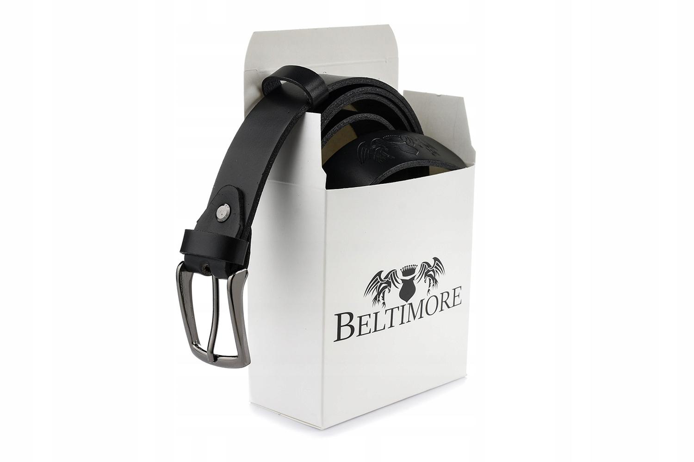 Beltimore черный кожаный ремешок для брюк узкий