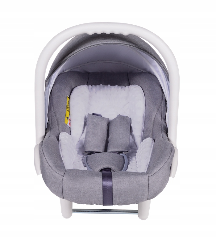 Fotelik samochodowy Neo 0-13 kg dla dzieci (biały) Seria Szary