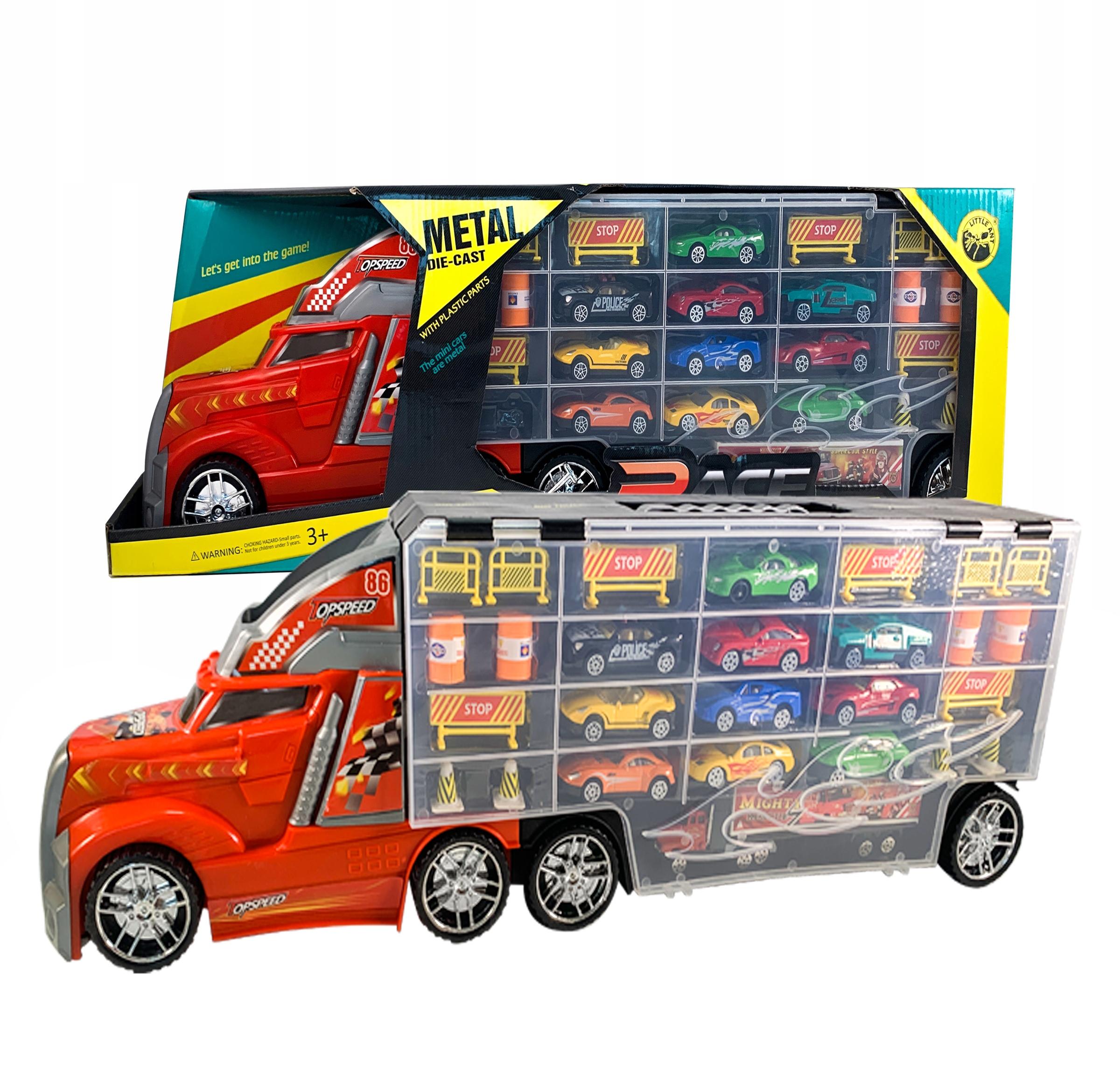 Ciężarówka Laweta Auta 10 RESORAKÓW + WYRZUTNIA