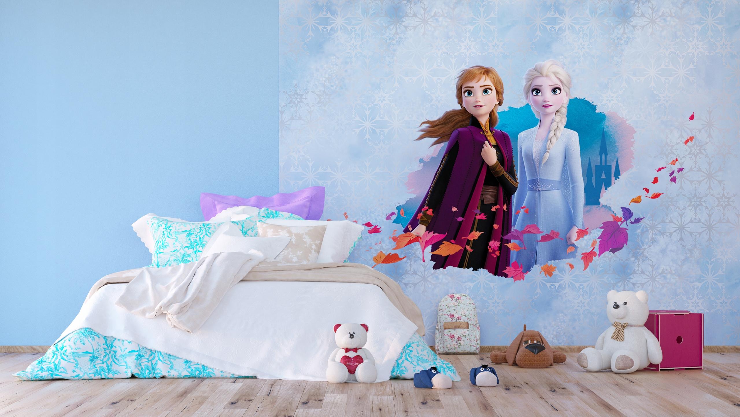 Disney Frozen Custom Full Wall Mural for Girls Bedrooms