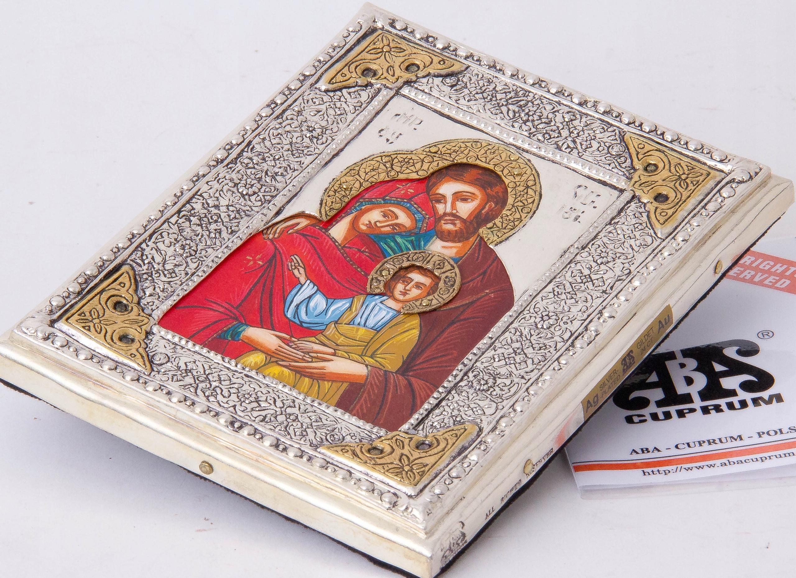 Ikona Św. Rodziny z Nazaretu! malowana nr 111P Artysta ABA Cuprum Piotr Adamczyk