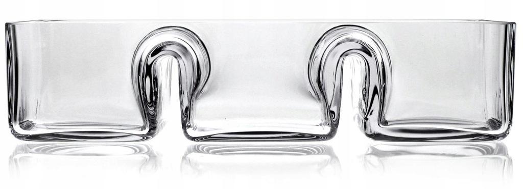 SOLIDNA szklana salaterka dzielona trójdzielna