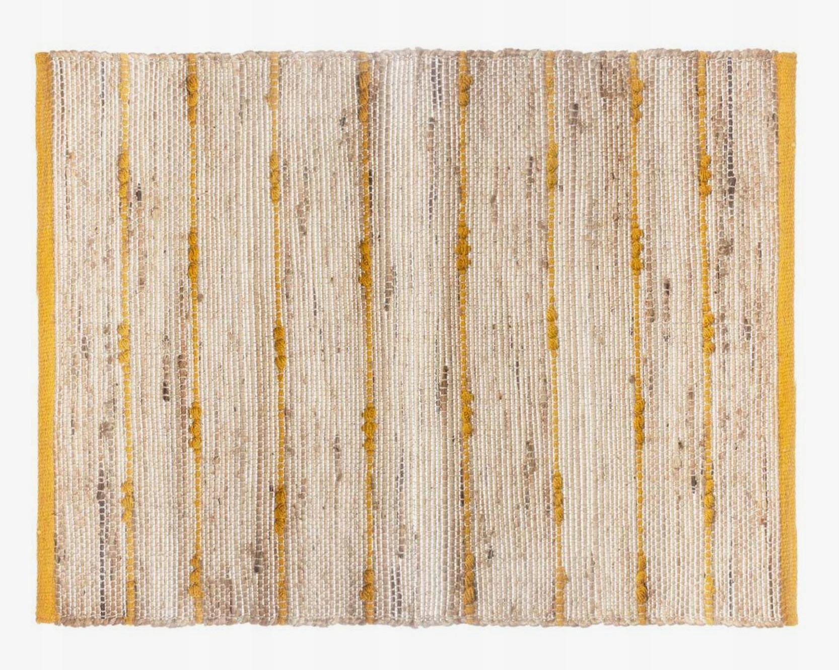 Dywan dywanik jutowy 60x90cm musztardowy naturalny