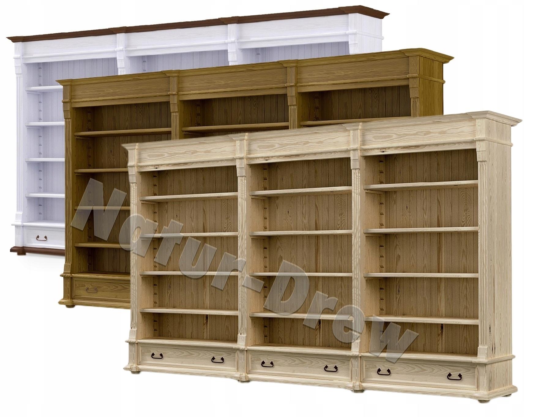 Drevená knižnica, polica, knižnica RETRO