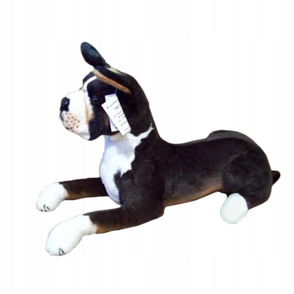 BLACK BOXER DOG, plyšový pes ako by žil