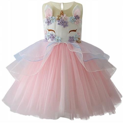 šaty s jednorožec 116 štyroch farbách