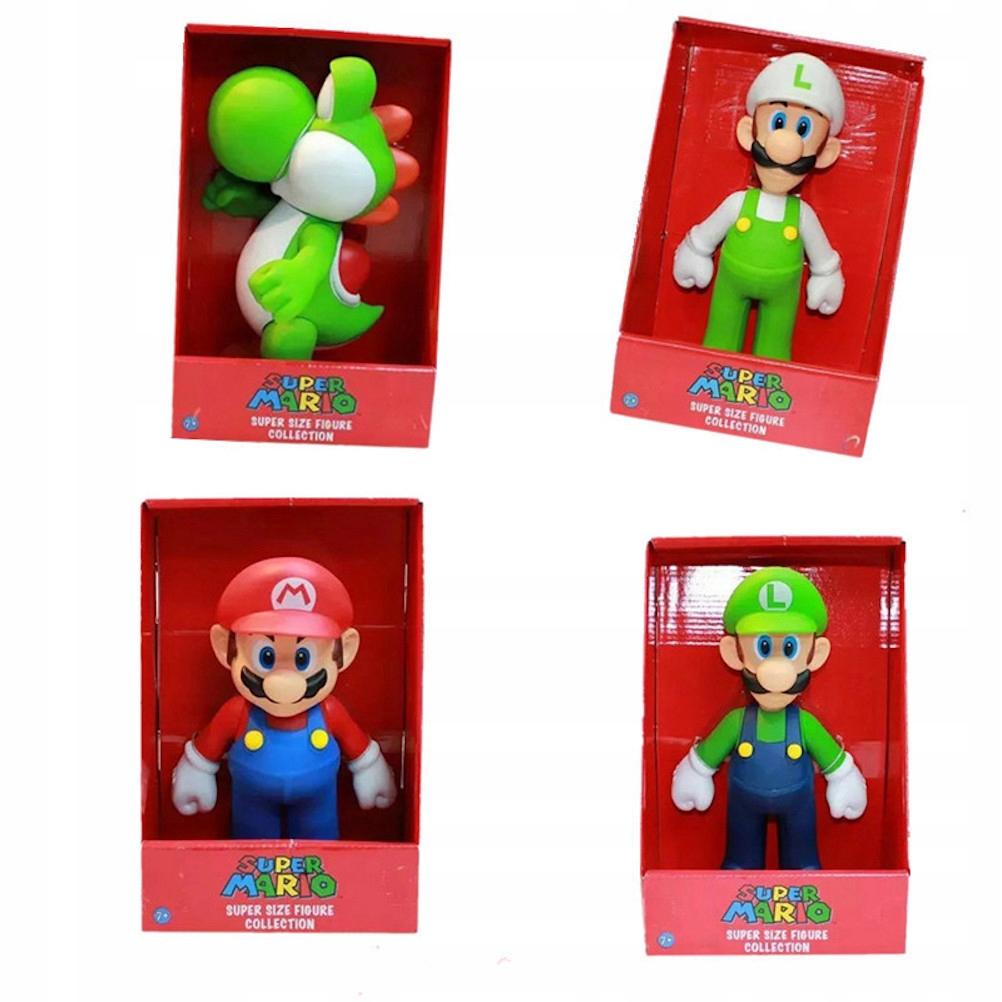 4ks Cartoon Super Mario Yoshi Bros figúrka Akčný obrázok