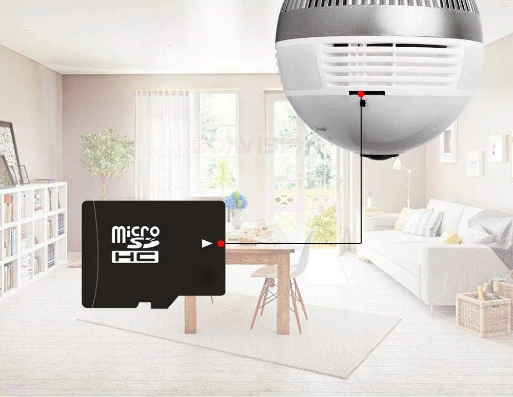 Kamera IP WiFi monitoring 360 w żarówce LED audio Typ kamery kolorowa