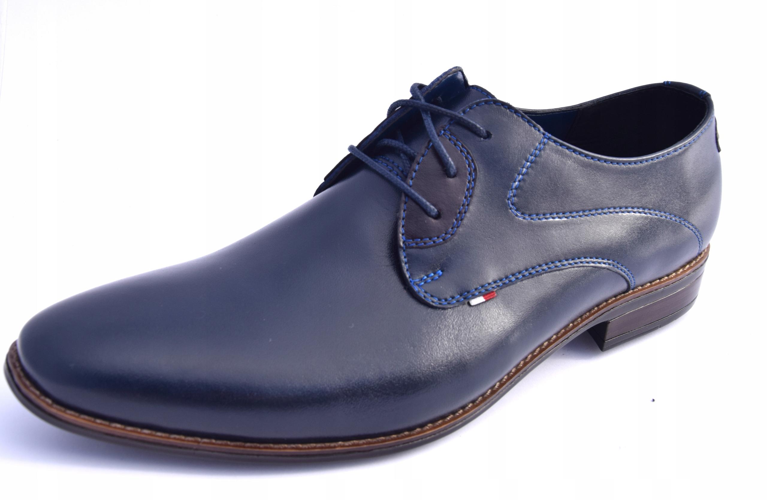 Buty skórzane obuwie wizytowe polskie 348