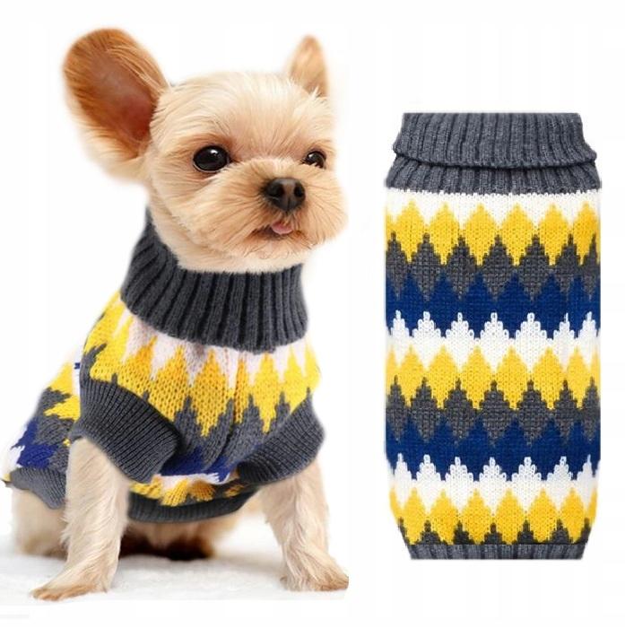 Sweterek Sweter Romby Lemon Ubranko Dla Psa M 8793700335 Allegro Pl