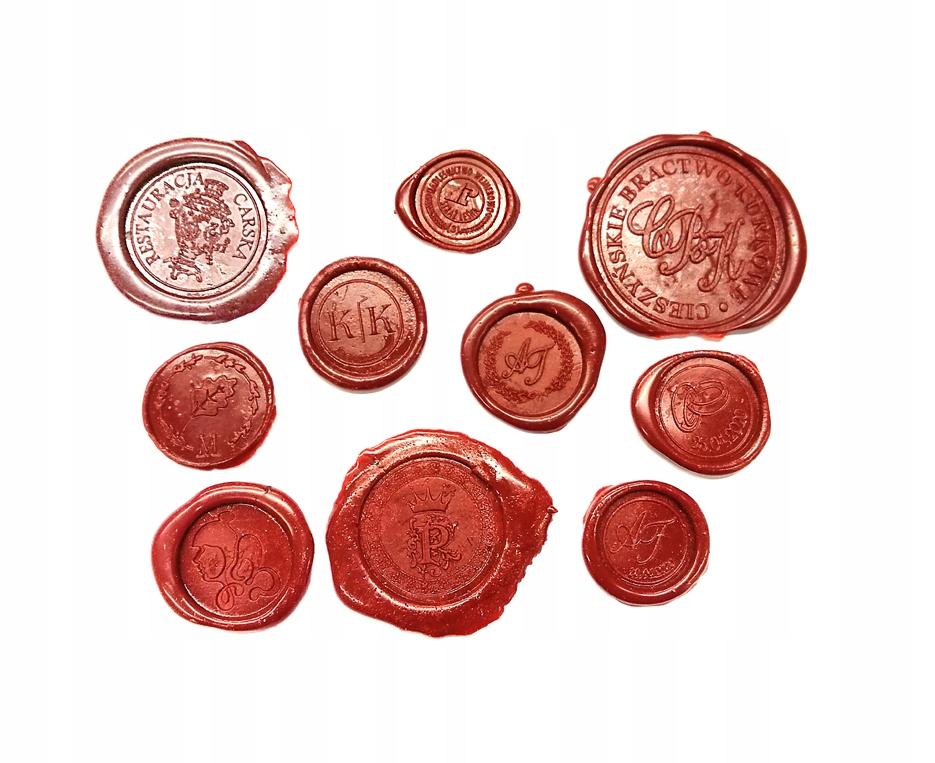 Referentka mosiądz 65mm pieczęć do laku lak gratis Marka eurograv