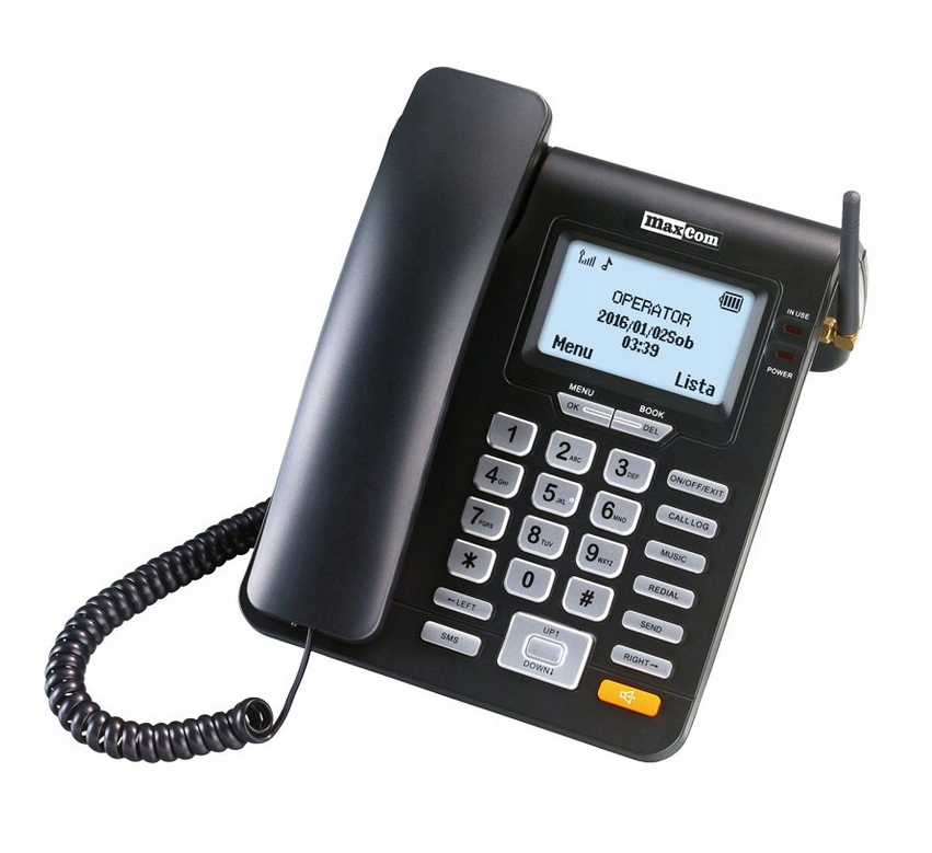 Item LANDLINE PHONE TO THE SIM CARD MAXCOM MM28D