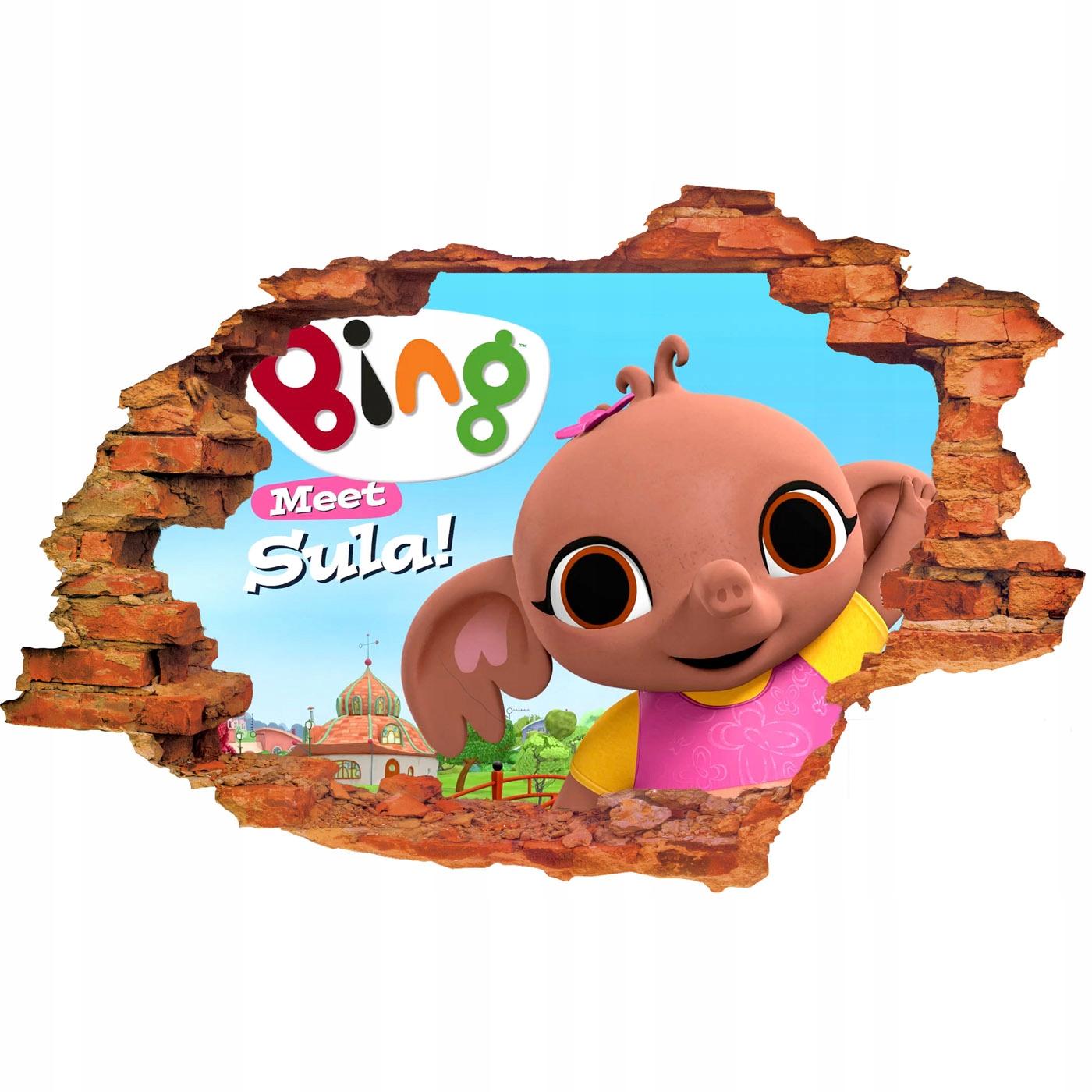 Samolepky na stenu 3D BING RABBIT pre deti