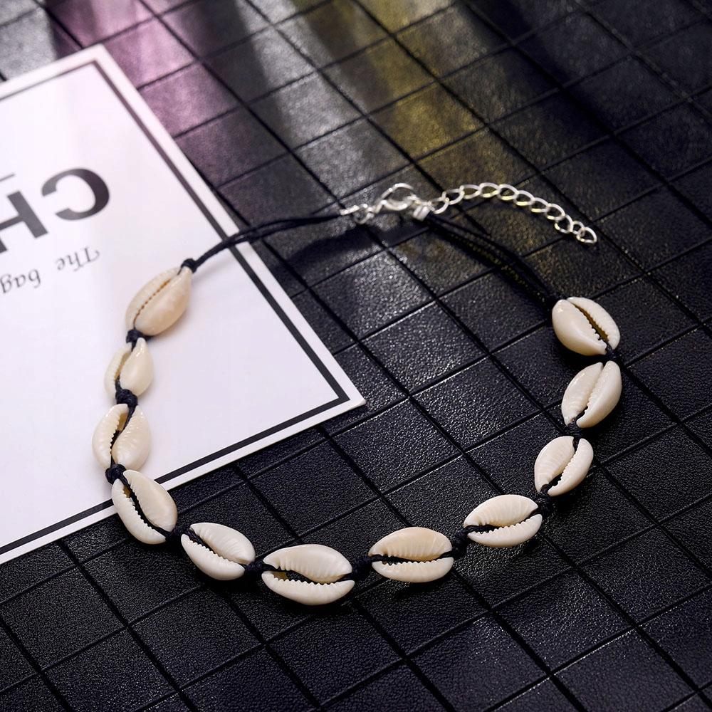 Naszyjnik choker biały muszle muszelki boho shell 7967578521 7zBV1cPP