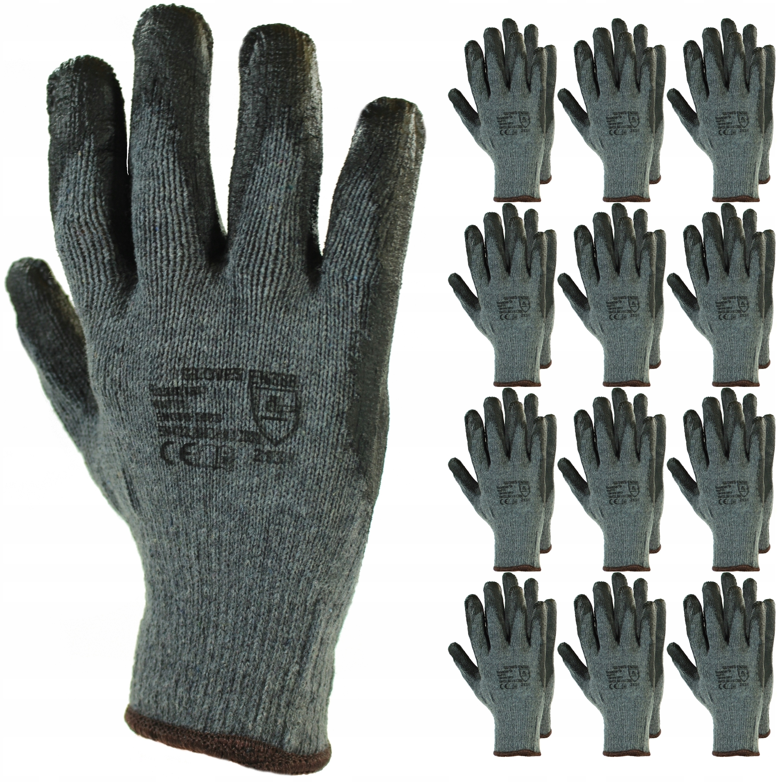 12 пар ПЕРЧАТК, рабочие перчатки.10 ПЕРЧАТК