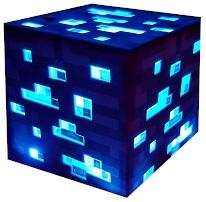 лампа LED Minecraft Diamond РЫЖАЯ подарок гаджет