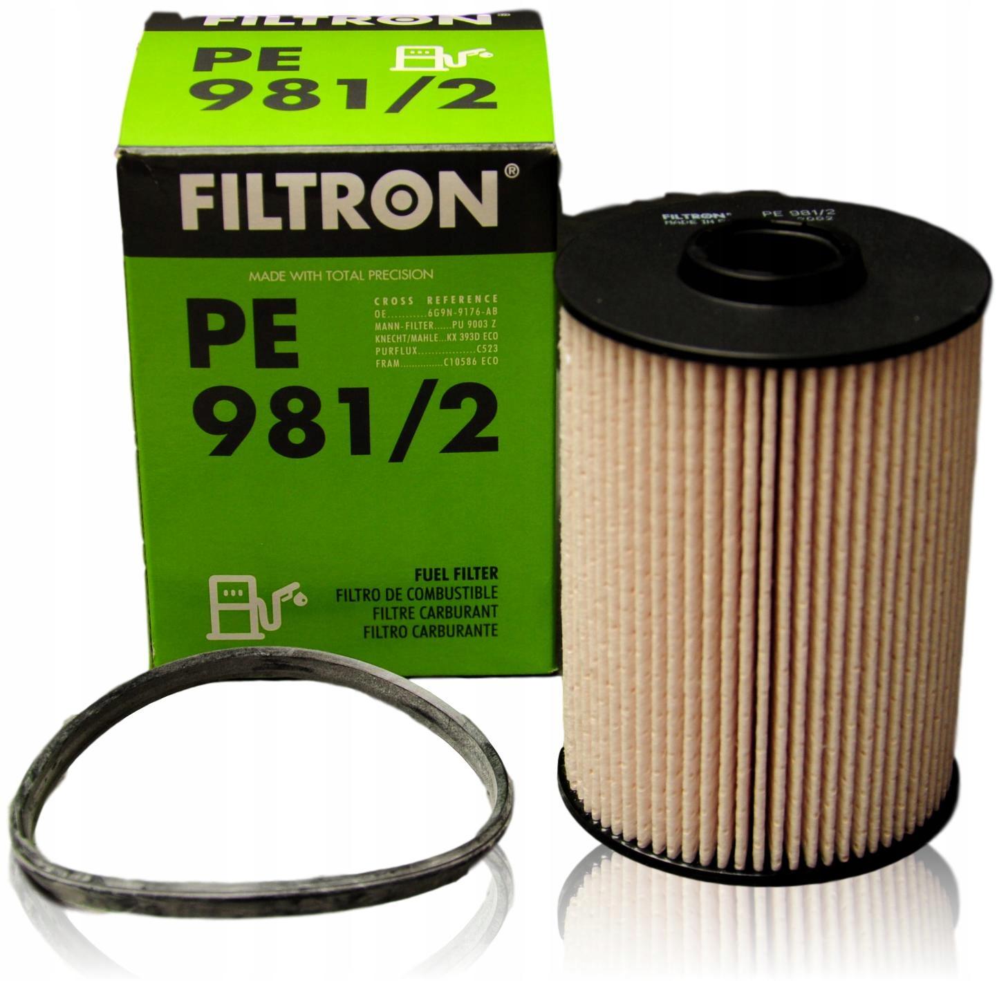 filtron фильтр топлива pe9812 ford mondeo iv volvo
