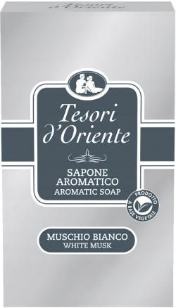 Мыло с нежным Tesori d'Oriente Белый мускус 150 гр
