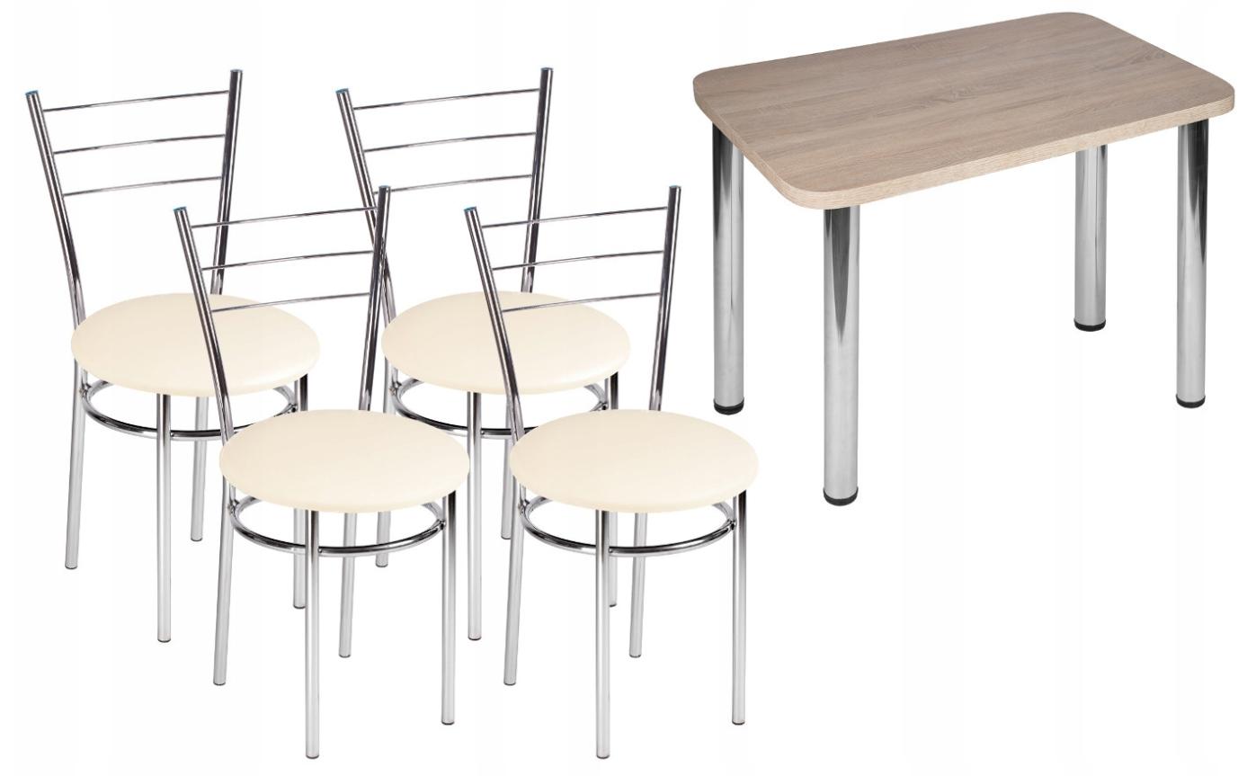 100x65cm stôl+4x stolička, stoličky Marco Draco
